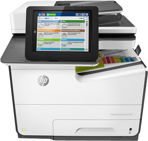 HP PageWide Enterprise Color MFP 586nd