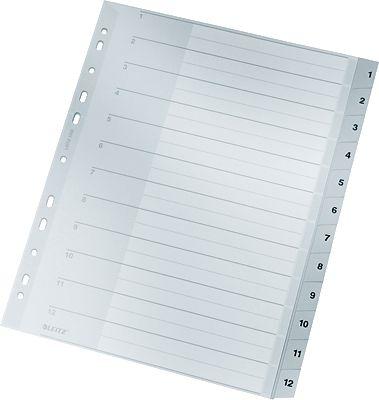 LEITZ-Plastikregister-Grau-A4