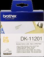 Brother Adress-Etiketten DK-11201 Schwarz auf Weiß