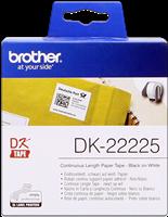 Brother Endlosetikett Papier DK-22225 Schwarz auf Weiß