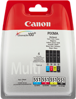 Multipack Canon CLI-551 CMYBK