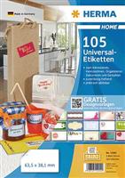 5-Blatt-Packung: Universaletiketten HERMA 12902