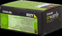 Toner Lexmark 802Y