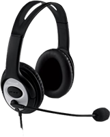 Microsoft LifeChat LX-3000 Headset Schwarz