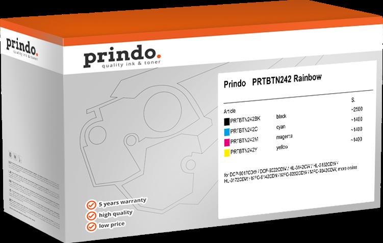 Value Pack Prindo PRTBTN242 Rainbow