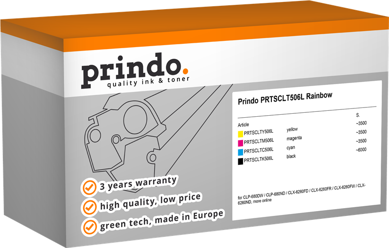 Value Pack Prindo PRTSCLT506L Rainbow