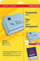 Adress-Etiketten (210 x 297mm) AVERY Zweckform L7567-25