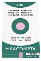 Karteikarten, liniert Exacompta 13830B