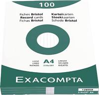Karteikarten, liniert Exacompta 13806B