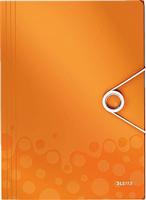 Eckspannermappe WOW A4 PP, orange metallic Leitz 4599-00-44