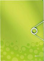 Eckspannermappe WOW A4 PP, grün metallic Leitz 4599-00-64