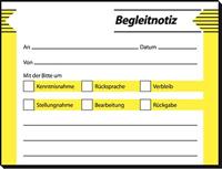 Begleitnotiz Haftblock Sigel HF142
