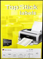 Etiketten (52,5x29,7mm) TOP STICK 8698