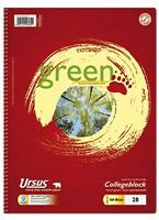 Green Collegeblock LIN28 A4 160 Blatt Ursus 608590028